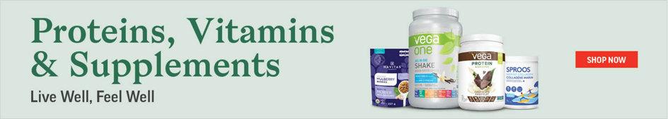 Proteins, Vitamins & Supplments