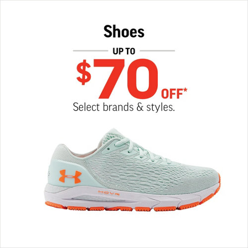 Shoes Up to $70 Off* Select Styles.