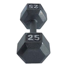York 25 lb. Hexagonal Dumbbell