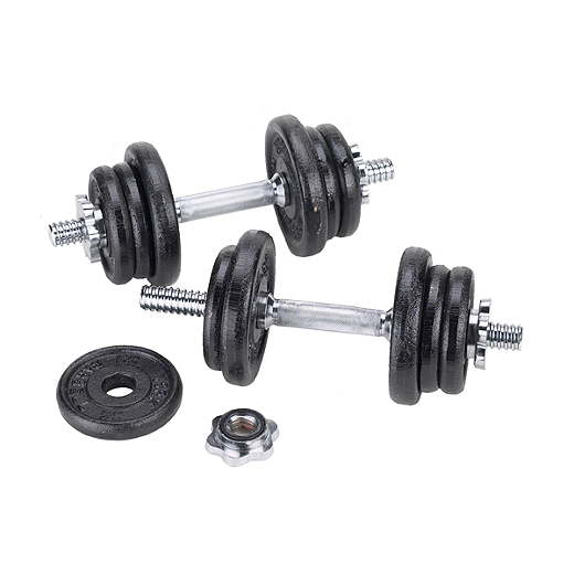 York 30kg Dumbbell Set: York 50 Lb. Adjustable / Spinlock Dumbbell Set