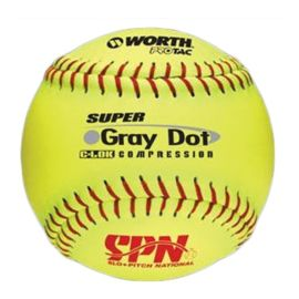 Worth YS40RSS3 Super Gray Dot 12 in. Slow Pitch Ball