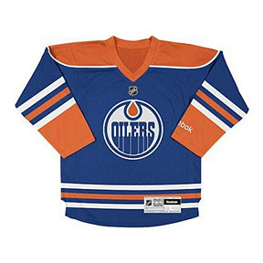 Reebok Edmonton Oilers Toddler Replica Home Hockey Jersey