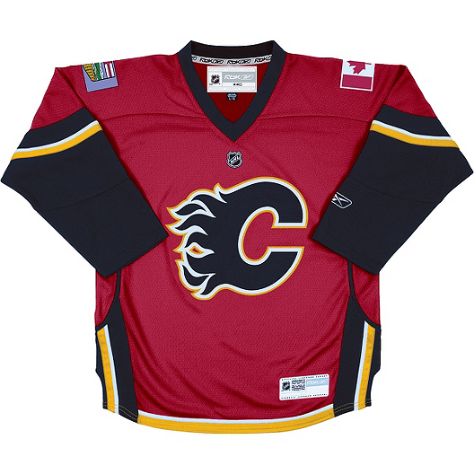 reputable site 7dff4 1a4a2 Reebok Calgary Flames Toddler Replica Home Hockey Jersey ...