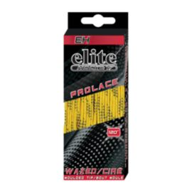 Elite Hockey® Waxed Skate Laces - Yellow / Black 120 in.
