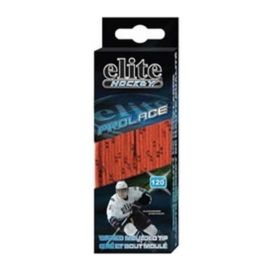Elite Hockey 108 in. Waxed Skate Laces - Orange/Black