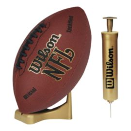 Wilson NFL All Pro Senior Football With Tee And Pump