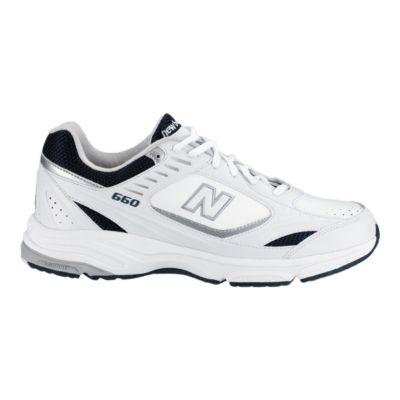 new balance men's walking shoes white