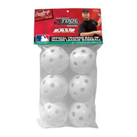 Rawlings Plastic Baseball Training Balls 6-Pack
