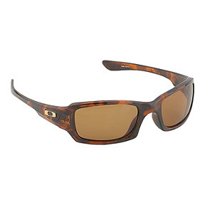 Oakley Fives Squared Polarized Sunglasses- Brown Tortoise