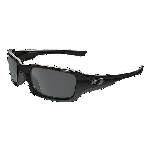 b305f01d48 Oakley Fives Squared Polarized Sunglasses- Polished Black with Black  Iridium Lenses