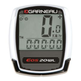 Louis Garneau EOS 20WL Wireless Cycling Computer - White / Black
