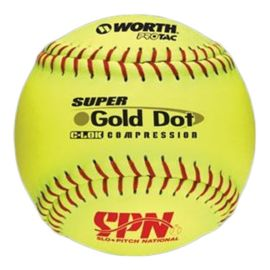 Worth Super Gold Dot Slow Pitch Ball - 12""