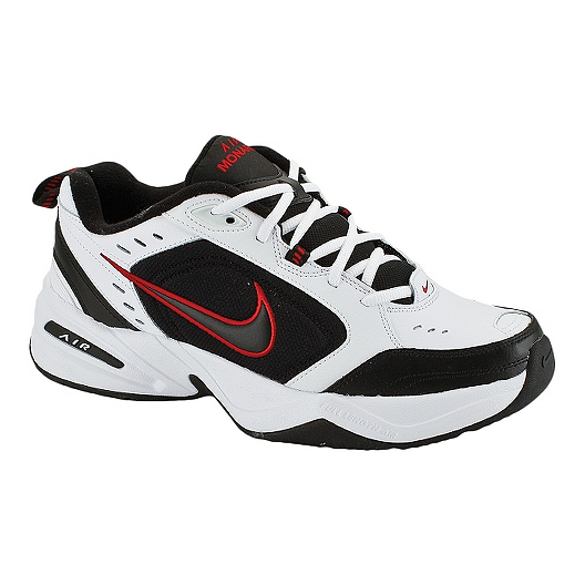 5d86e7f383b5 Nike Men s Air Monarch IV 4E Extra Wide Width Shoes - White Black Red