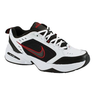 Nike Men's Air Monarch IV 4E Extra Wide Width Shoes - White/Black/Red
