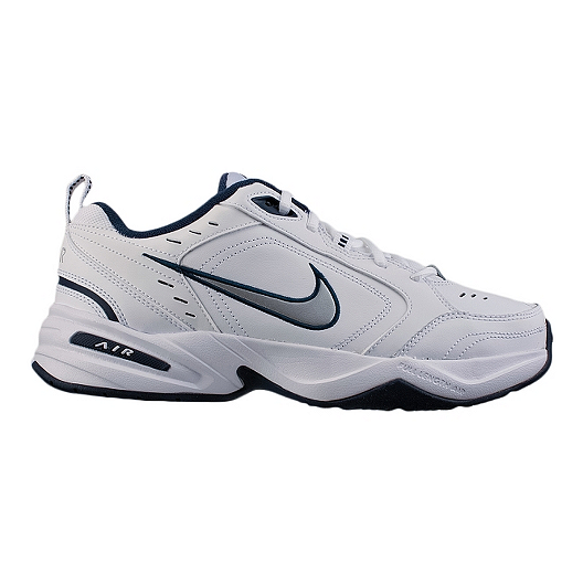 6f7646f4abf53 Nike Men's Air Monarch IV 4E Extra Wide Width Training Shoes - White/Navy |  Sport Chek