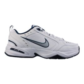 Nike Men's Air Monarch IV 4E Extra Wide Width Training Shoes - White/Navy
