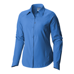Ridge Sleeve Silver Long Sport Women's Columbia Shirt Chek wxIvgEAq