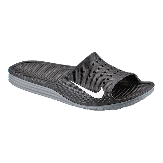 a3844ecdd8a Nike Men s Solarsoft Slide Sandals - Black