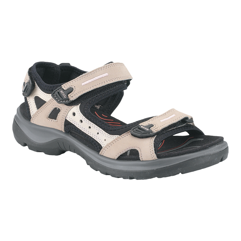 87d149d4 Ecco Women's Yucatan Sandals - Atmo/Ice/Black