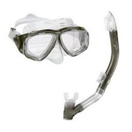 Speedo Adventure Snorkel & Mask Combo Set - Smoke Grey