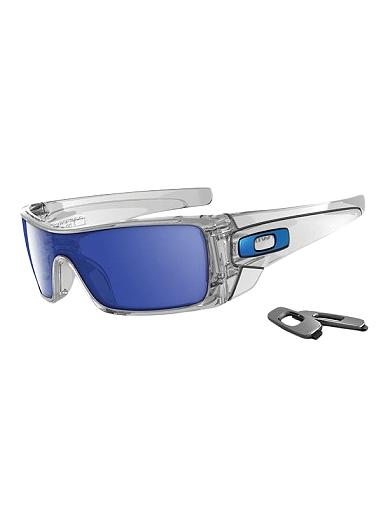 Oakley Batwolf Lenses >> Oakley Batwolf Sunglasses Polished Clear Frame With Ice Iridium