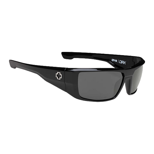 47cd1629d4a6 Spy Dirk Shiny Black/Grey Polarized Sunglasses | Sport Chek