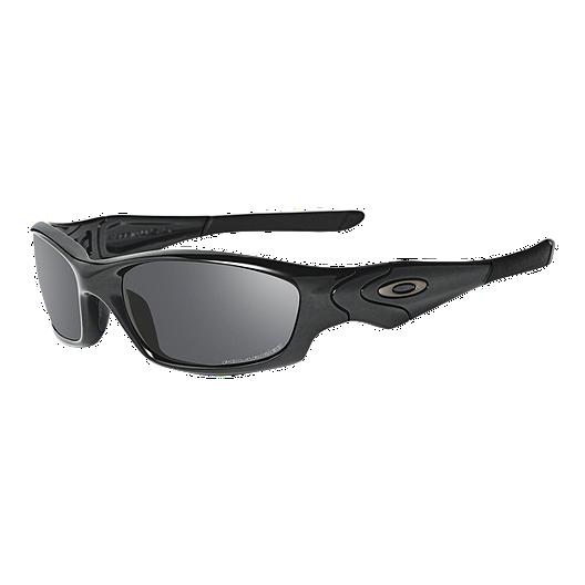 d2a737aa19 Oakley Straight Jacket Polished Black Sunglasses with Black Iridium  Polarized Lenses