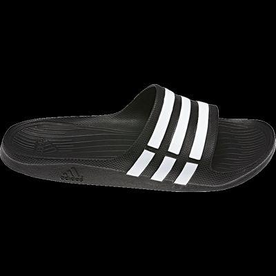 Los hombres de Adidas Duramo Slide Athletic sandals negro / blanco Sport Chek