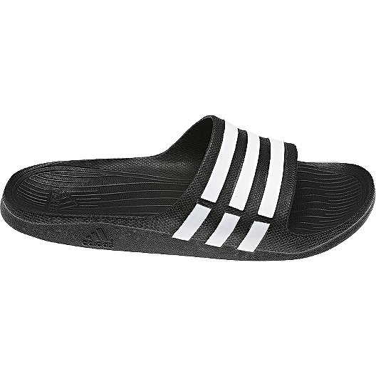 5f6a46bbd adidas Men s Duramo Slide Athletic Sandals - Black White