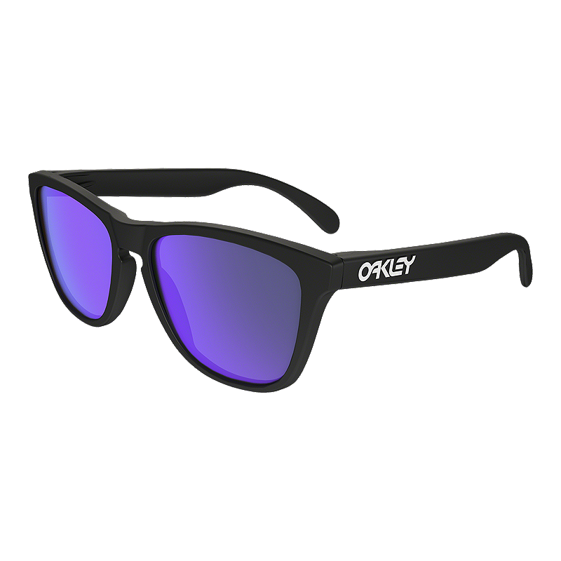 8b1c25f6c70 Oakley Frogskins Sunglasses- Matte Black with Violet Iridium Lenses ...