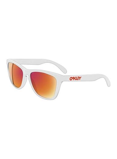 38e518735795 Oakley Frogskins® Sunglasses- Polished White with Ruby Iridium Sunglasses