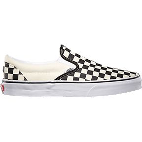 1415ff3d04c7 Vans Men s Classic Slip-On Checkerboard Shoes - Black White