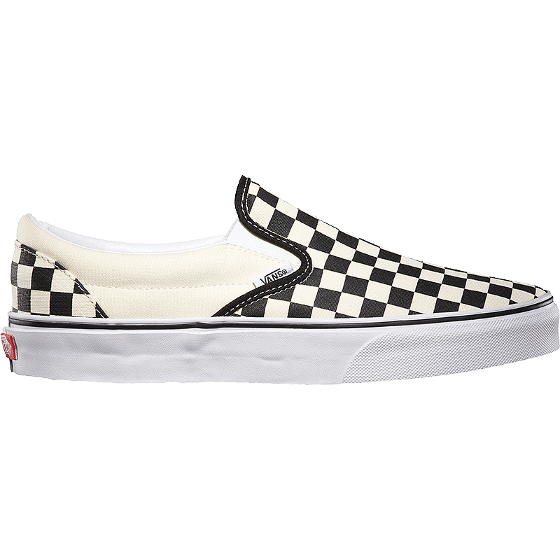 946b3f54738194 Vans Men s Classic Slip-On Checkerboard Shoes - Black White