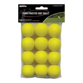 inSport Yellow Foam Golf Balls - 12 Pack