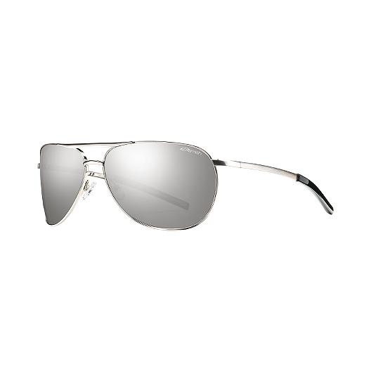 748dcebd36 Smith Serpico Women s Slim Metal Sunglasses- Silver with Grey Lenses ...