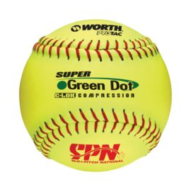 "Worth Super Green Dot 11"" Softball - Yellow"
