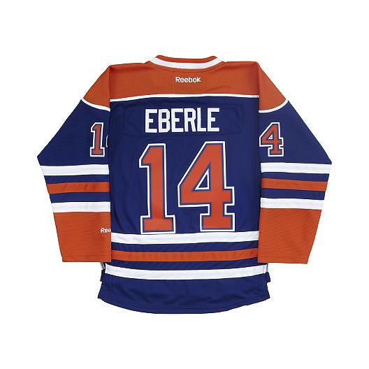 1f3432649ce Edmonton Oilers Kids' Jordan Eberle Premier Home Hockey Jersey | Sport Chek