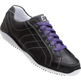 Footjoy Women's LoPro Casual Golf Shoes - Black/Purple