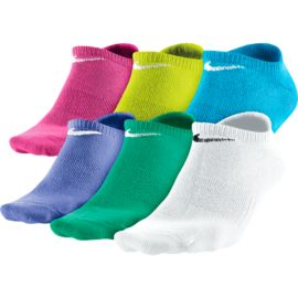 Nike Cotton No Show Girls' Socks - 6 Pair Pack