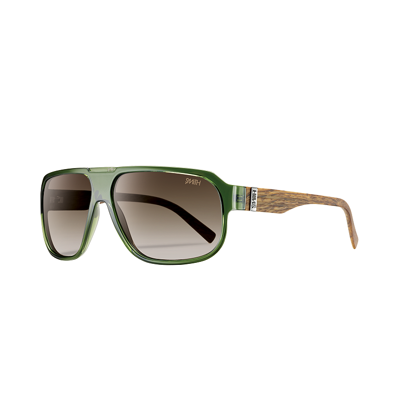 1a80fd3116c Smith Gibson Lifestyle Polarized Sunglasses - Green Wood with Brown Lenses