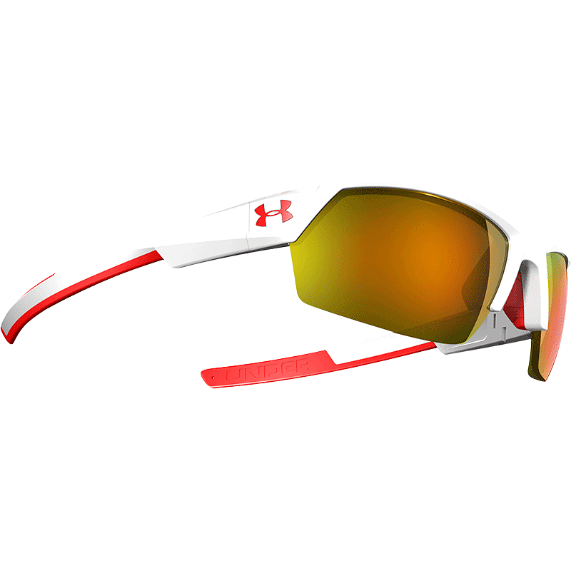 2d318efd5121 Under Armour Igniter II Sunglasses- Shiny White/Grey with Orange Mirror  Lenses   Sport Chek