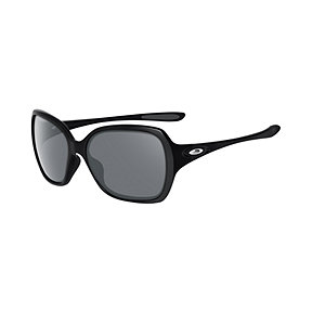 Oakley Overtime Women's Sunglasses - Black/Grey with Polished Black Lenses
