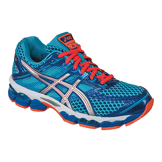 ASICS Women's Gel Cumulus 15 Running Shoes - Blue/Orange