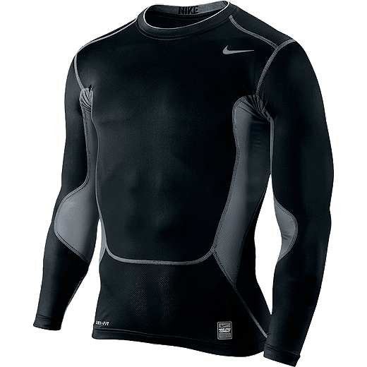 c53c2813 Nike Pro Combat Hypercool Compression 2.0 Long Sleeve Top Mens - BLACK/COOL  GREY-