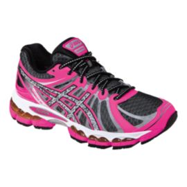 ASICS Women's Gel Nimbus 15 Lite-Show Running Shoes - Pink/Black/White