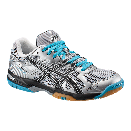 ffff1f71565e9 ASICS Women's Gel Rocket 6 Indoor Court Shoes - Silver/Blue/Black | Sport  Chek