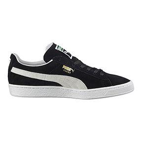 62fc8a8c71b9 PUMA Men s Suede Classic+ Shoes - Black White
