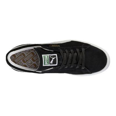 Puma Men's Suede Classic+ Shoes - Black/White
