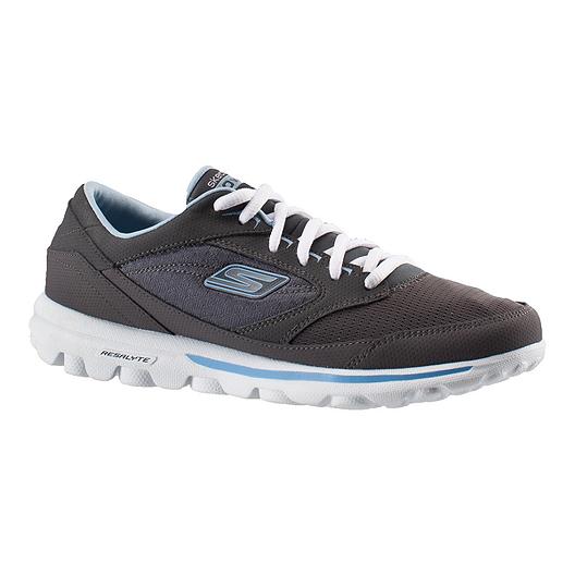 info for 887f8 e7768 Skechers Women s Go Walk Baby Walking Shoes - Grey White Blue   Sport Chek