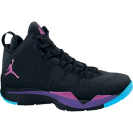 Nike Men's Jordan Super.Fly 2 Basketball Shoes - Black/Purple/Pink